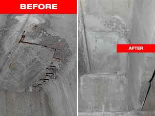 Sika high strength epoxy repair
